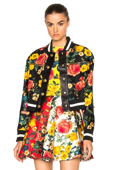 Fausto Puglisi Leather Jacket in Black Multi