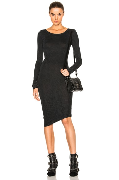 Fine by Superfine Snug Dress in Black Mineral