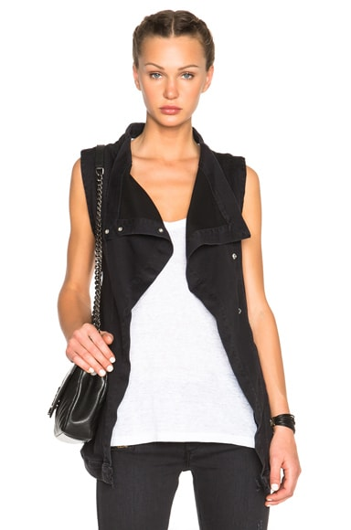 Fine by Superfine Grace Vest in Black Ghost