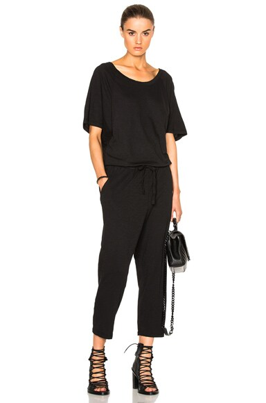 Fine by Superfine Wing Jumpsuit in Black