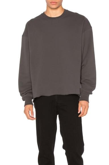Fear of God Long Sleeve Crewneck Sweatshirt in Vintage Black