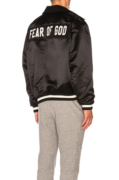 Satin Half Zip Coaches Jacket