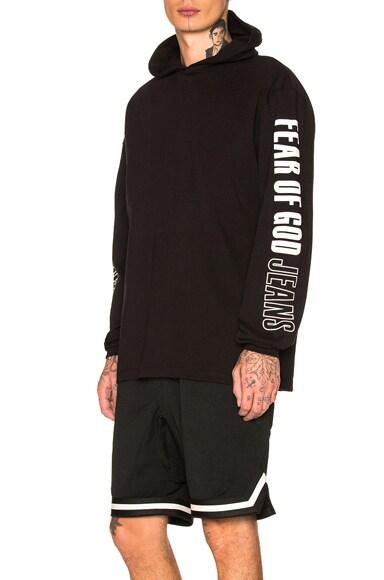 Printed Heavy Jersey Long Sleeve Hoodie