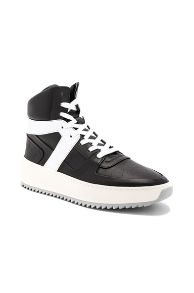 Leather Basketball Sneakers
