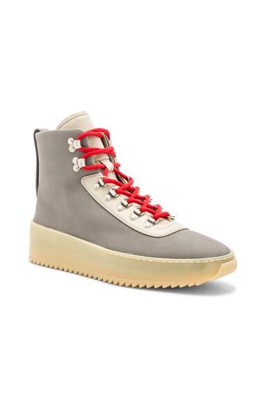 Nubuck Leather Hiking Sneakers