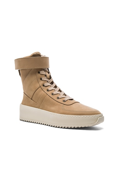 Fear of God Nubuck Leather Military Sneakers in Canapa