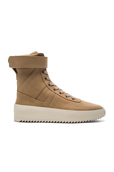 Nubuck Leather Military Sneakers