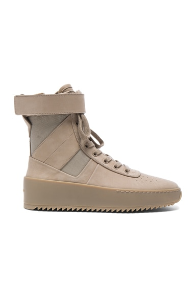 Fear of God Nubuck Leather Military Sneakers in Desert Beige