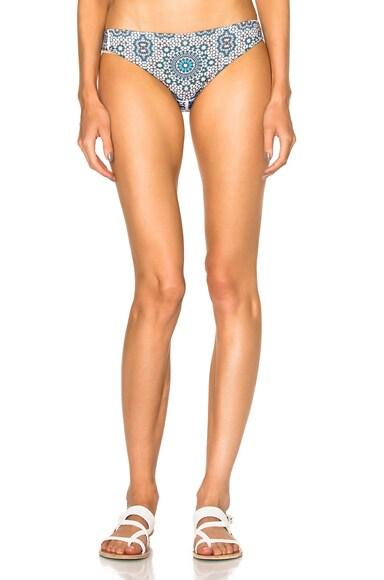 F E L L A River Bikini Bottom in Kazi Grey Blue