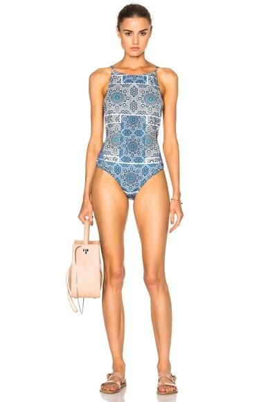 F E L L A Mad Max Swimsuit in Kazi Grey Blue