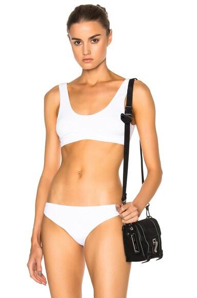 F E L L A Romeo Bikini Top in White