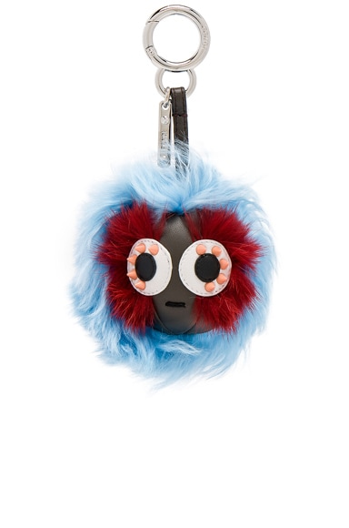 Mink & Alpaca Fur Mini Bag Bug Charm