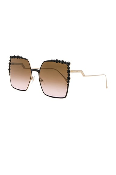Square Embellished Sunglasses