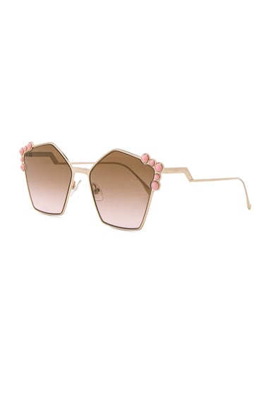 Step Arm Geometric Sunglasses