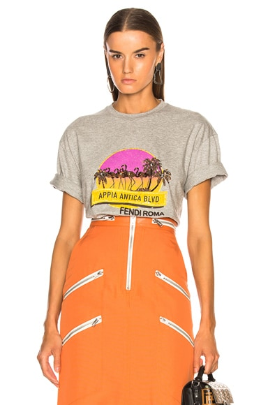 Applia Antica Boulevard Embellished Graphic Tee