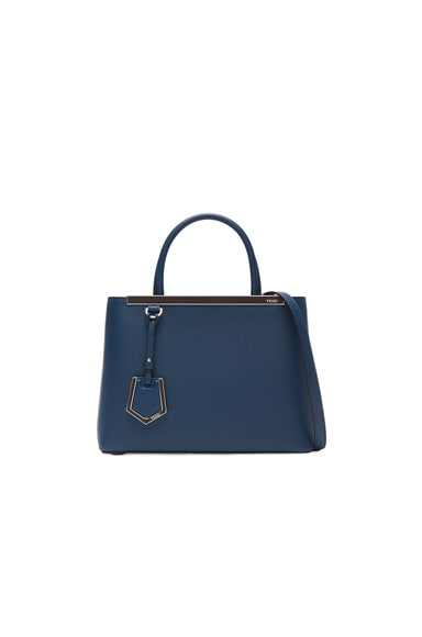 Fendi Leather Petite 2Jours in Blue & Doll Pink