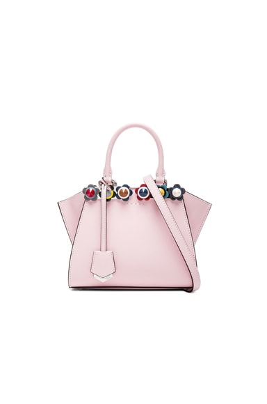 Fendi Floral Studded 3Jours Mini in Pink