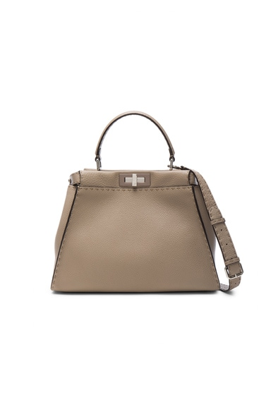 Fendi Rome Leather Regular Peekaboo in Corda