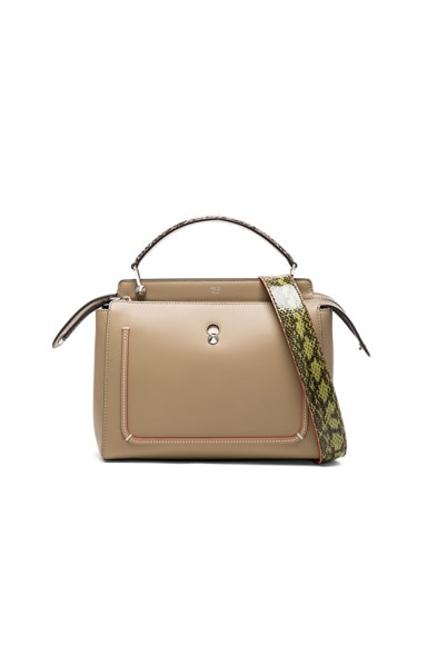 Fendi Elaphe Handle Bag in Dove