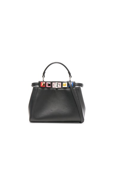 Shatoosh Leather Multicolor Stud Mini Peekaboo