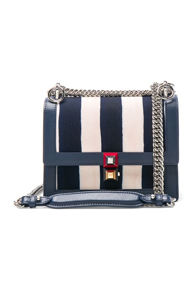 Striped Kan l Shoulder Bag