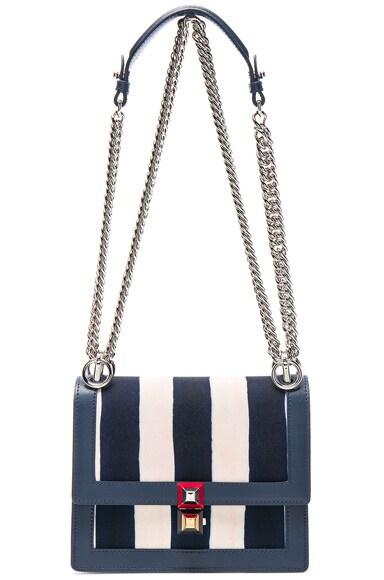Striped Kan l Shoulder Bag