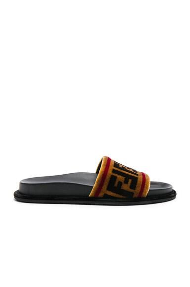 Velvet Logo Sandals
