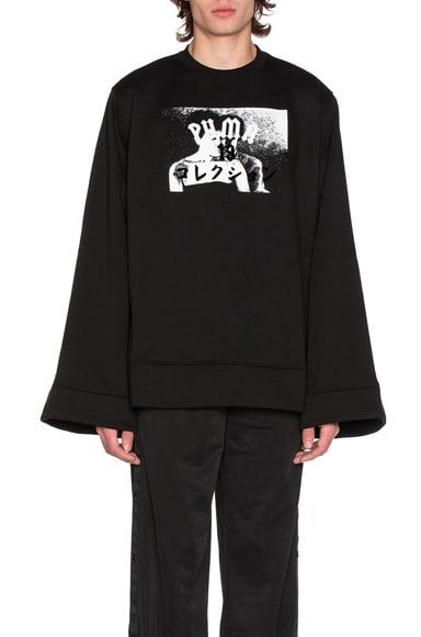 Fenty by Puma Fleece Crew Neck in Black