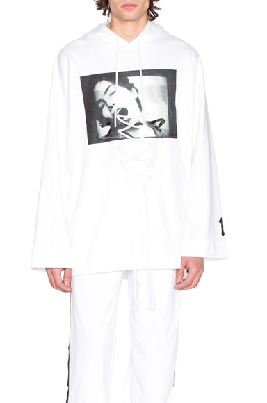 Fenty by Puma Front Lacing Hoodie in White