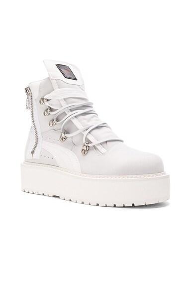 Fenty by Puma Nubuck Sneaker Boots in White