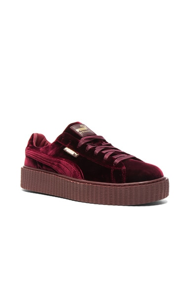 Fenty by Puma Creepers Velvet in Royal Purple