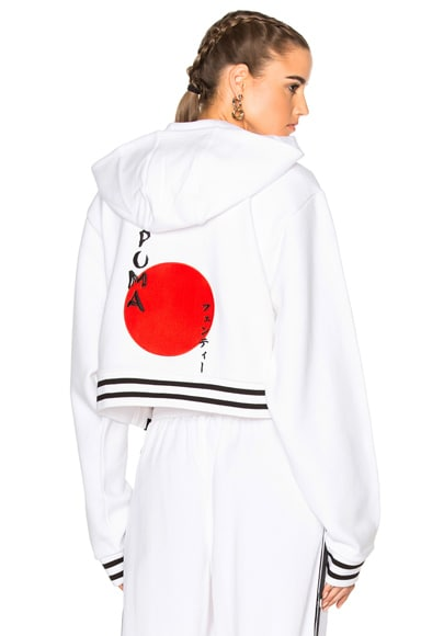 Fenty by Puma Rising Sun Lacing Hoodie in White