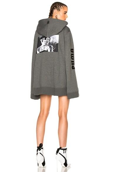 Fenty by Puma Fleece Full Zip Hoodie in Grey