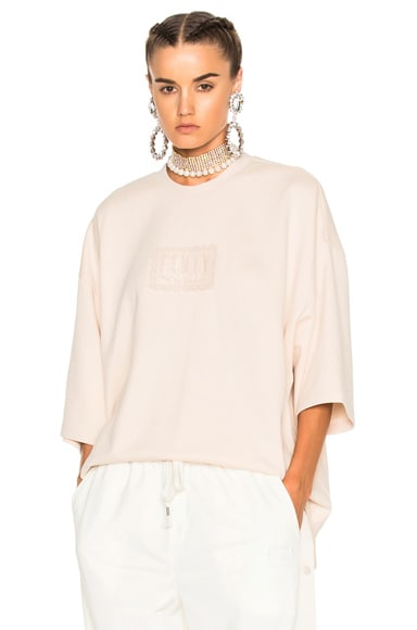 Fenty by Puma Oversized Crewneck Tee in Pink Tint