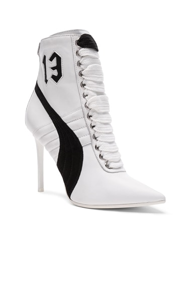 Leather High Heel Sneakers