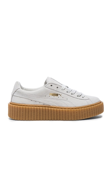 Fenty by Puma Suede Creepers in Star White