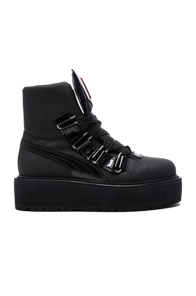 Leather Sneaker Boots