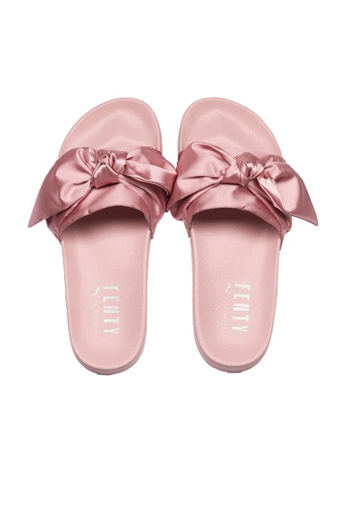 Bow Satin Slides