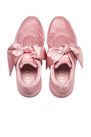 Bow Satin Sneakers