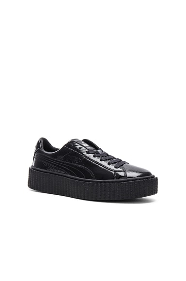 Patent Leather Creeper Sneakers