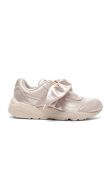 Fenty by Puma Bow Satin Sneakers in Pink Tint