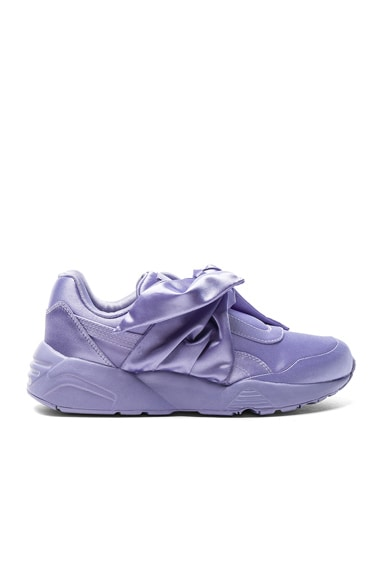 Fenty by Puma Bow Satin Sneakers in Sweet Lavender
