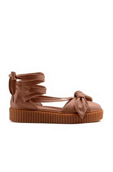 Bow Leather Creeper Sandals Fenty by Puma