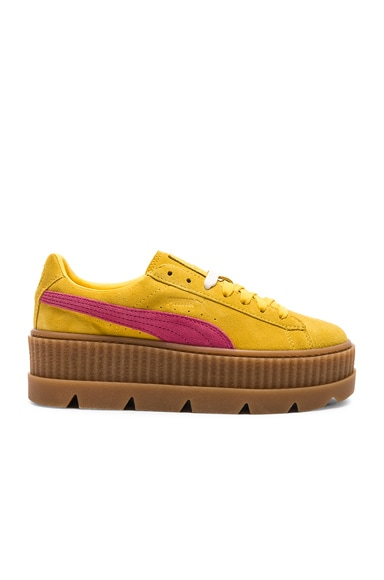 Cleated Suede Creeper Sneakers