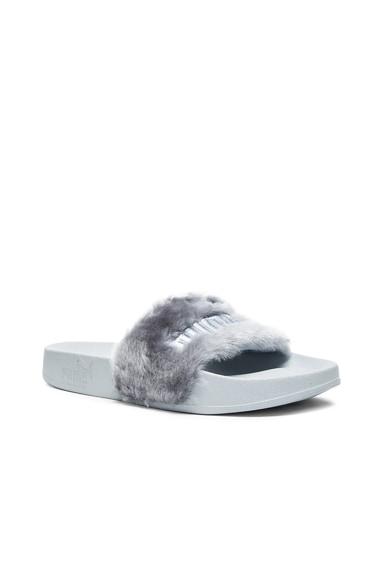 Leadcat Faux Fur Slide Sandals