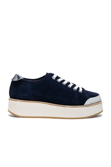 Flamingos Suede Tatum Sneakers in Navy & White