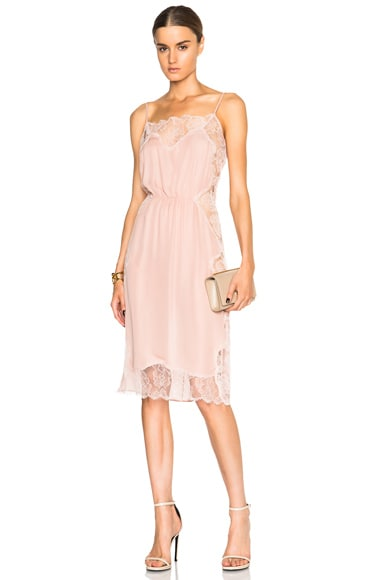 fleur du mal Rose Lace Applique Slip Dress in Dusty Rose