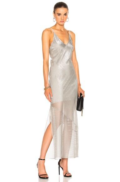 fleur du mal Long Slip Dress in Platinum