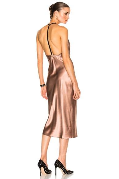 Cowl Neck Bias Slip Dress