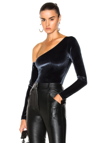 Velvet One Shoulder Bodysuit